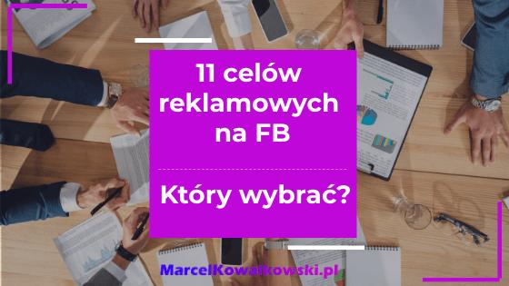 jaki cel w menedżerze Facebook wybrać